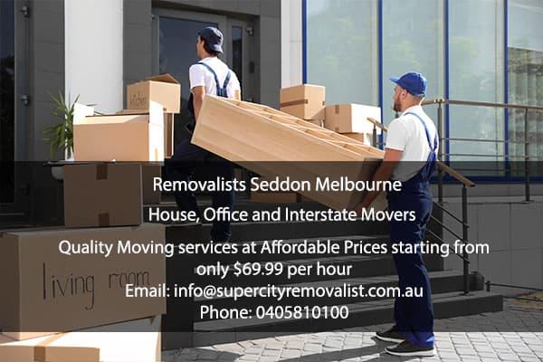 Removalists Seddon