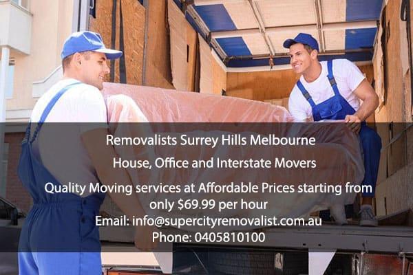 Removalists Surrey Hills Melbourne